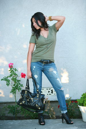 Swapmeet accessories - by madden girl shoes - Forever 21 jeans - Target shirt