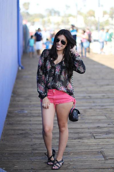 Zara shorts - Jcpenny blouse - franco sarto sandals