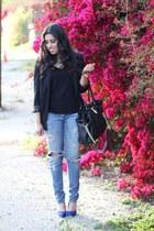 blazer - pants - heels