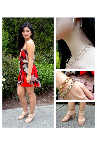 Gold dkny dress