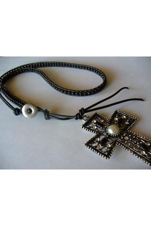 wrap necklace handmade necklace