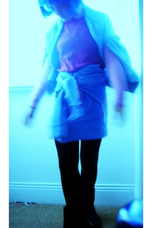 blue bob fringed wig Manic Panic accessories - black moon nike boots