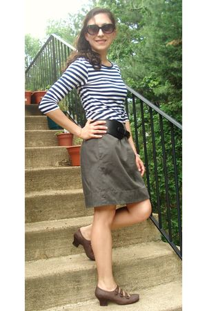 Target shirt - DSW shoes - Loft skirt