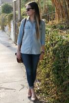 sam edelman loafers - skinny J Brand jeans - cargo madewell shirt - jw hulme bag