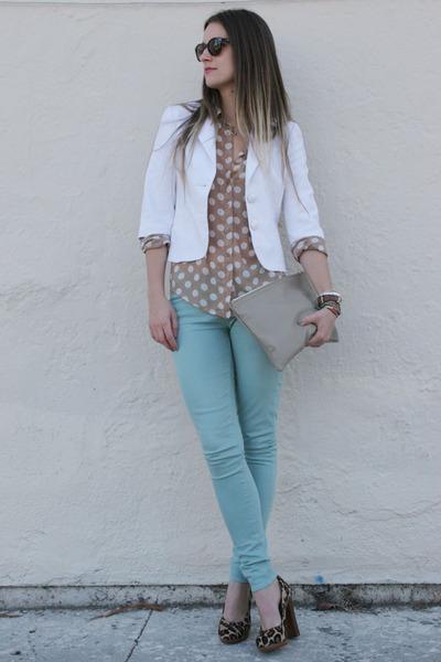 aquamarine Paige Denim jeans - white Trina Turk blazer