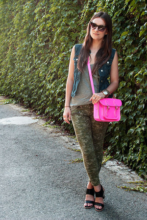 hot pink cambridge satchel bag - olive green skinny camo rag & bone jeans