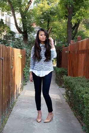 American Apparel jeans - Promod sweater - Zara blouse
