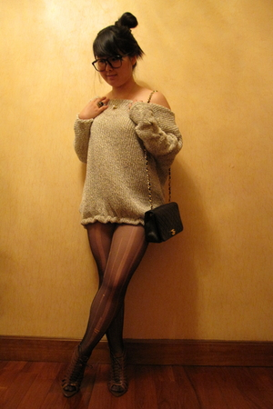Chanel purse - Urban Outfitters shoes - nothing sweater - The Lab accessories -