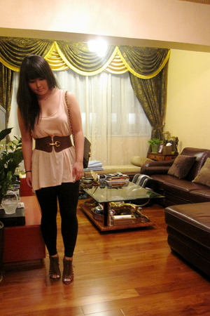 Zara top - Chanel purse - Urban Outfitters belt - Urban Outfitters shoes