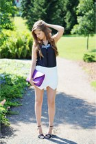 amethyst Mojito bag - white Zara shorts - black Bianco heels