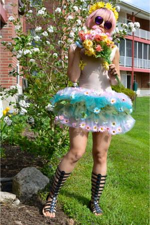 sheer body suit Nathalia JMag bodysuit - tulle tutu Nathalia JMag skirt