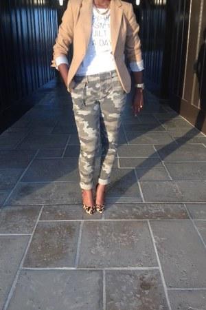 camo Gap pants - Target blazer - BCBG pumps