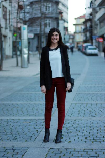 black H&M boots - black Zara jacket - white Primark shirt - black Zara bag