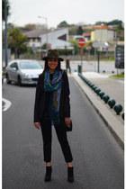 ethnic Zara scarf - black cowboy studs Zara boots - army green studs Zara hat