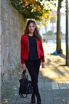 Zara boots - Zara leggings - Zara blazer