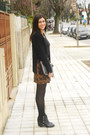 Black-h-m-boots-black-fringed-zara-jacket-black-zara-shirt
