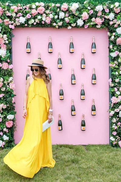 yellow maxi dress asos dress - tan straw Nordstrom hat