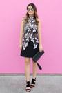 Black-lace-self-portrait-dress-black-clutch-gigi-new-york-bag