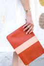 White-bow-rebecca-minkoff-dress-salmon-clutch-clare-v-bag