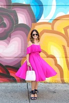 hot pink chiffon Cece by Cynthia Steffe dress