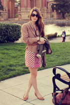Aldo flats - Juicy Couture dress - Vintage Havana blazer - vintage belt
