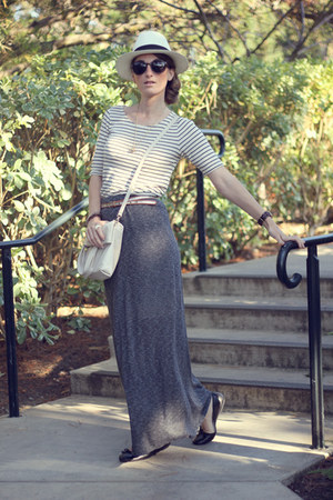JCrew hat - JCrew shirt - kate spade bag - LF skirt - Ralph Lauren flats