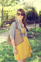 modcloth dress - JCrew shirt - Luana bag - Prada sunglasses - Pour La Victoire f