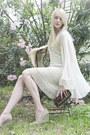Cream-crochet-vintage-dress-cream-vintage-jacket