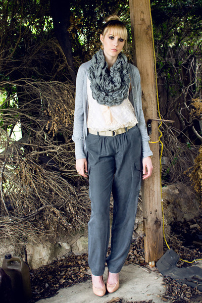 heather gray silk cargo Victorias Secret pants - heather gray Walmart scarf