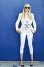 White-forever21-blazer-white-tank-karl-lagerfeld-t-shirt-black-zara-heels