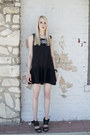 Black-drop-waist-diy-dress-periwinkle-vintage-necklace
