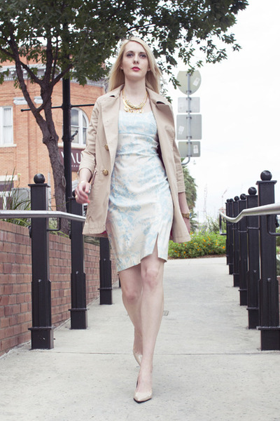 light blue floral print Express dress