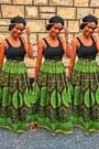 High-waist-maxi-african-print-skirt