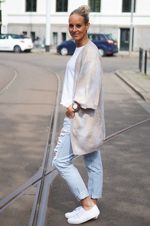 Selected Femme cardigan - One Teaspoon jeans - Superga sneakers