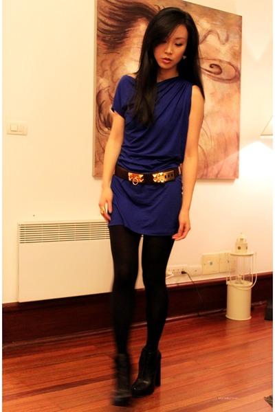 Dark Brown Hermes Belt Navy Alexander Boots Blue Bordeau Dress