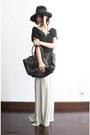Black-mini-luggage-celine-bag-heather-gray-fishtail-jersey-rick-owens-skirt