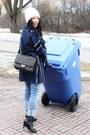 Blue-marc-jacobs-coat-ivory-beanie-gap-hat-black-255-jumbo-chanel-bag