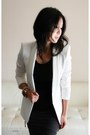 White-tuxedo-jacket-zara-blazer-navy-twisted-ruched-alexander-wang-skirt