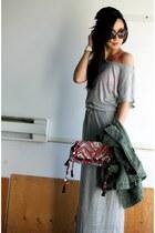 heather gray maxi Heidi Klum X New Balance dress