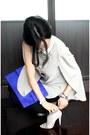 Blue-python-clutch-bag-white-clic-clac-hermes-bracelet