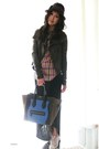 Dark-gray-leather-jacket-rick-owens-jacket-blue-cobalt-mini-celine-bag