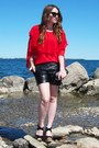 Red-sugarlips-blouse-black-tart-shorts-celine-sunglasses