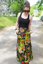 olive green Anthropologie pants - black Moschino belt