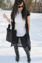 Forever 21 sweater - Marc by Marc Jacobs jeans - white H&M shirt