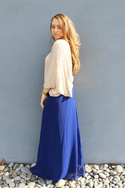 Blue Forever 21 Skirts Neutral Nordstrom Blouses Into The Blue