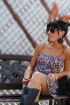 American Rag dress - boots - Forever 21 sunglasses - Forever 21 earrings