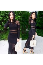 black sheer Missguided dress