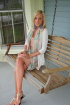 feathers Charlotte Russe earrings - H&M dress - Charlotte Russe sweater