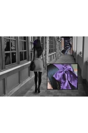 Bebe accessories - H&M dress - Fossil bag - Bebe heels