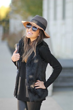 foldable fedora Hats by the Hundred hat - Tom Ford glasses - calvin klein vest
